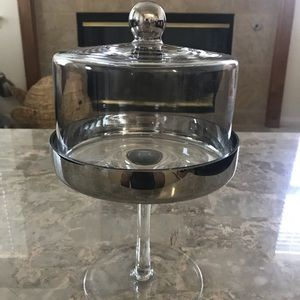 Mini Glass and Silver Cake Stand Display